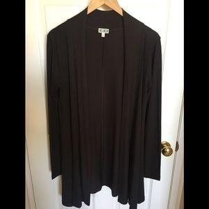 14th & Union Soft Dark Brown Long Cardigan
